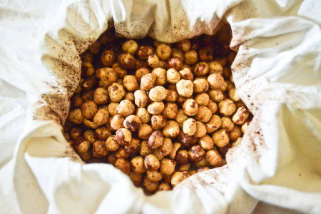 Roasted and skinned hazelnuts