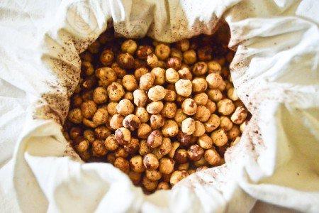 Roasted and skinned hazelnuts