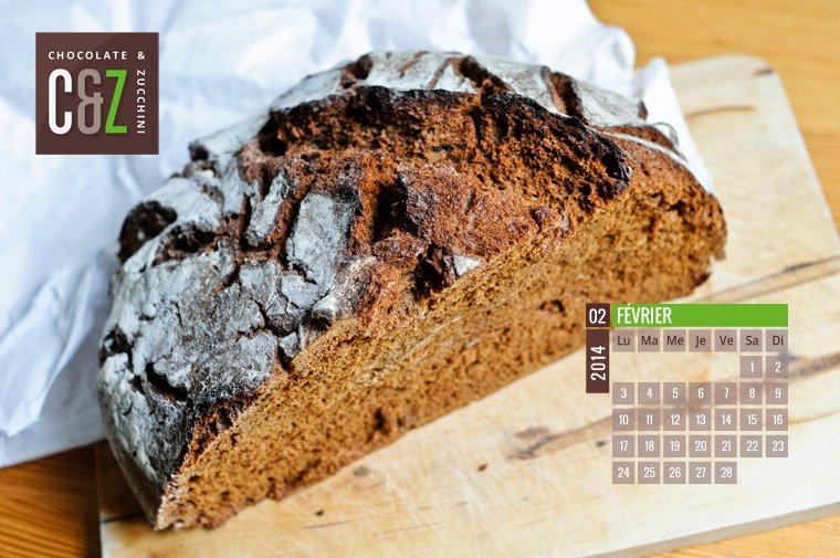February 2014 Desktop Calendar