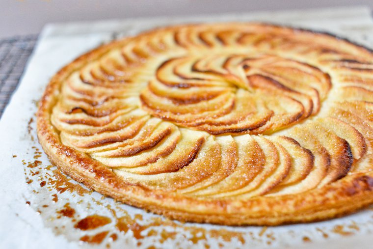Caramelized Apple Tarte Fine