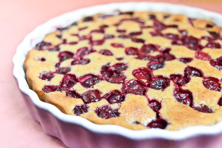 Cherry Clafoutis with Chestnut Flour Recipe | Chocolate & Zucchini