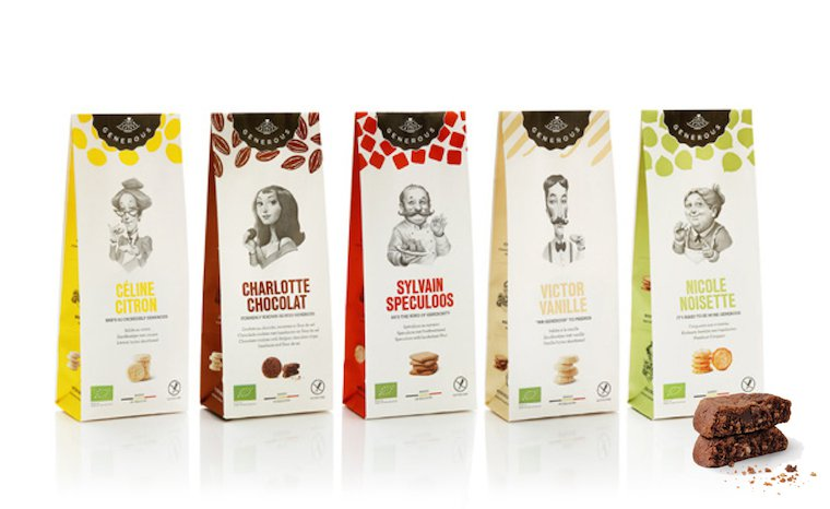 Gluten-free and organic cookies by Belgian company Generous.