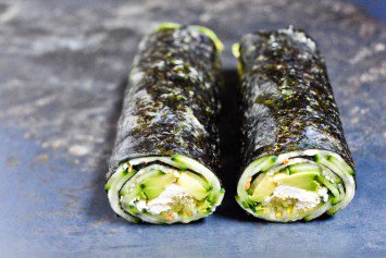 Quick Nori Roll with Cucumber and Avocado