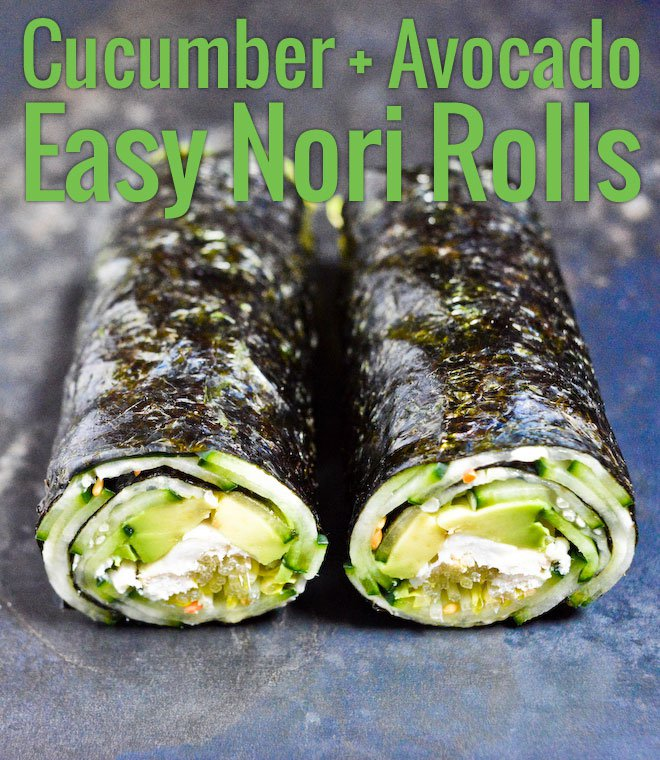 Quick Nori Roll with Cucumber and Avocado Recipe | Chocolate ...