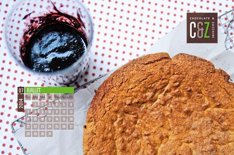 July 2014 Desktop Calendar