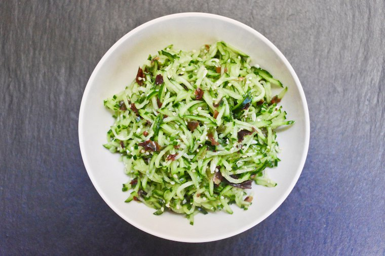 Cucumber Salad with Sesame and Seaweed