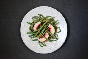 Green Bean and Nectarine Salad