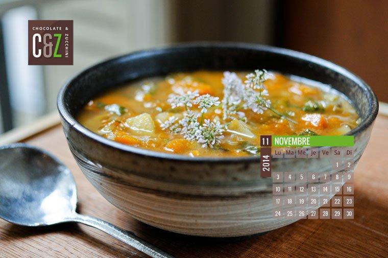 November 2014 Desktop Calendar