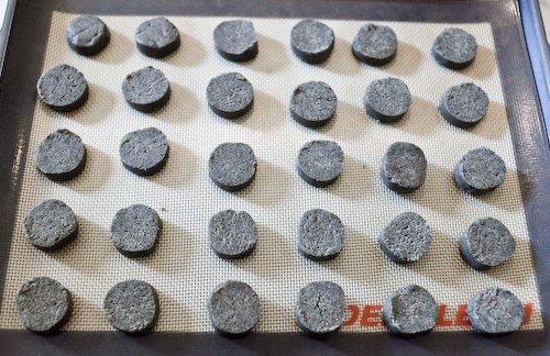Black Sesame Sablés (pre-baking)