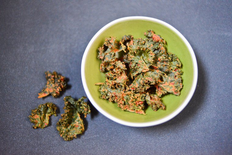 Cheesy Vegan Kale Chips Recipe