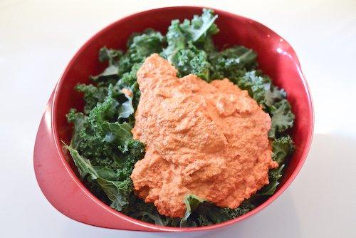 Kale + sauce