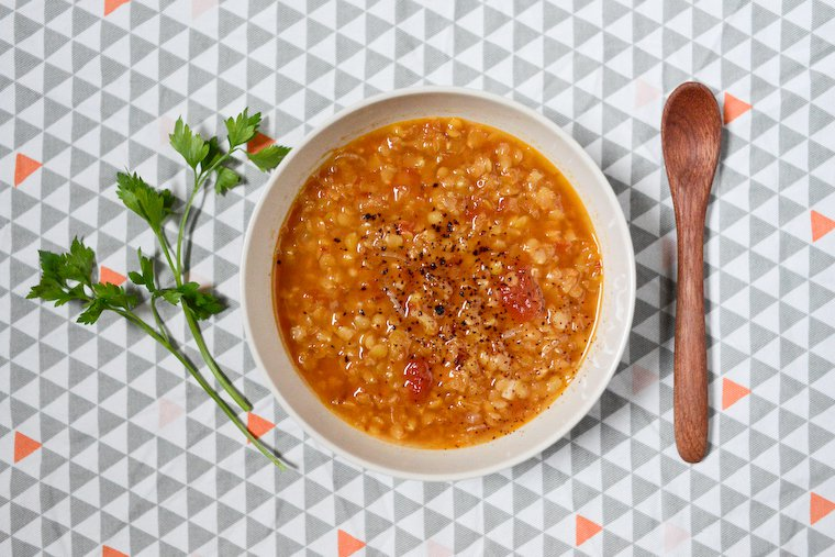 Pink Lentil Soup