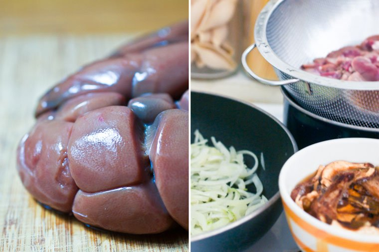 Beef Kidneys with Ceps and Onions Recipe