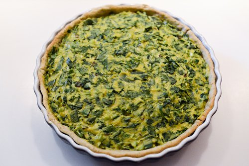 Green Quiche (pre-baking)