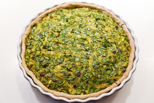 Green Quiche (baked)