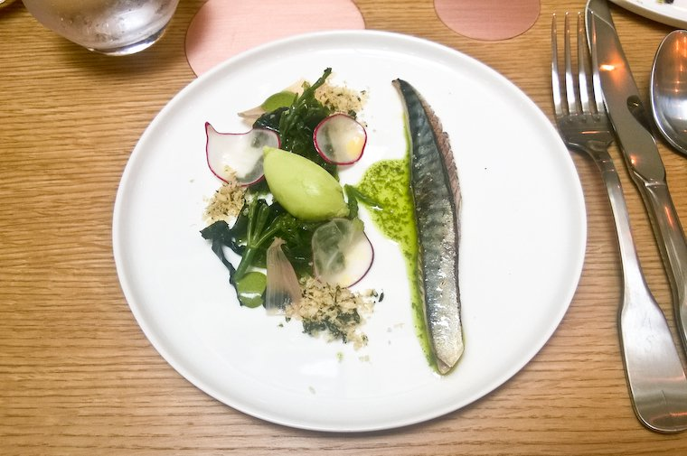 Blow-torched mackerel at Porte 12