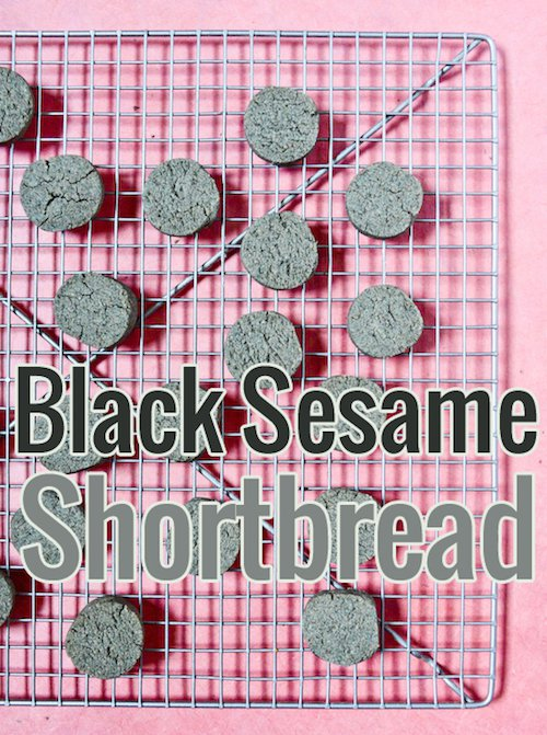 Black Sesame Shortbread