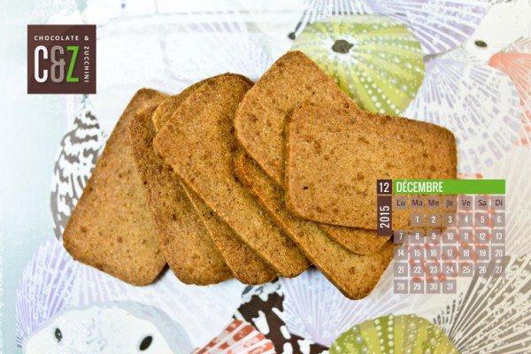 December Desktop Calendar from Chocolate & Zucchini