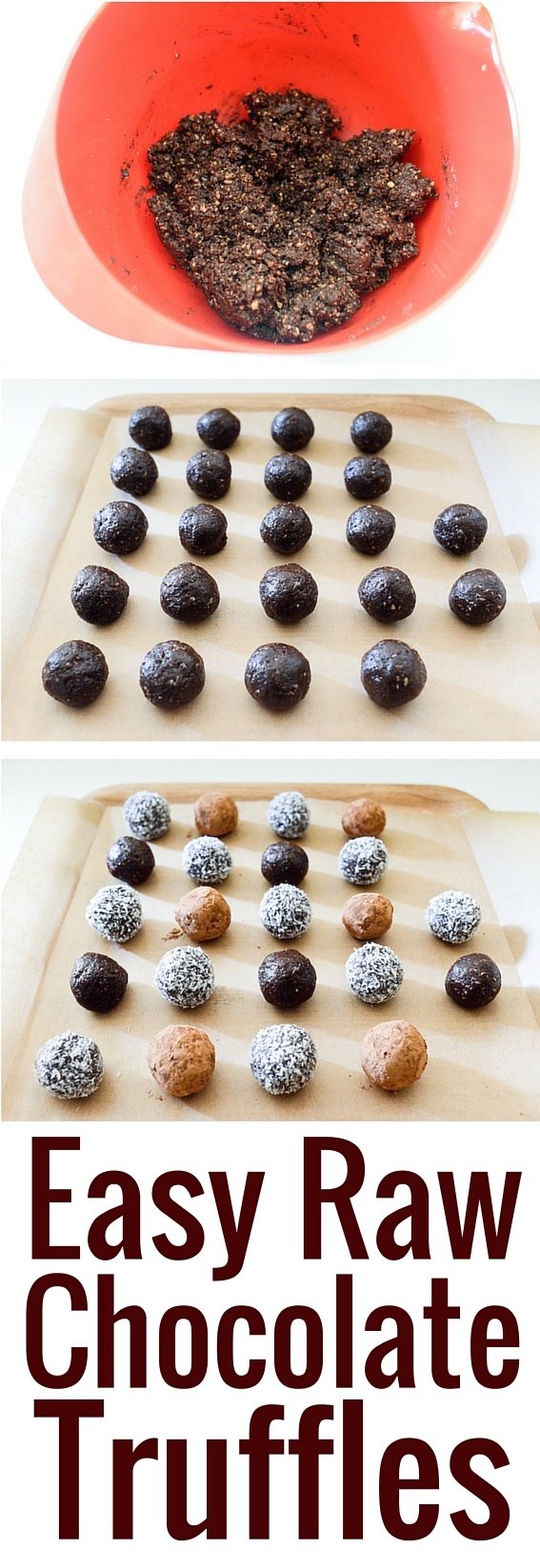 Easy Raw Chocolate Truffles