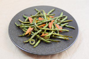 Roasted Green Beans with Shaved Bottarga