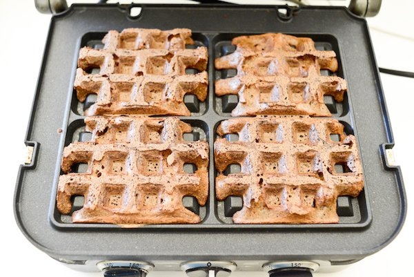 Sprouted Buckwheat Waffles: Cooked waffles