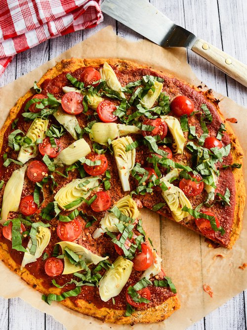 Sweet Potato Pizza Crust, recipe and photography by Ashley Melillo.
