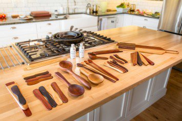Gorgeous utensils from Earlywood. Photography by Dan Armstrong.