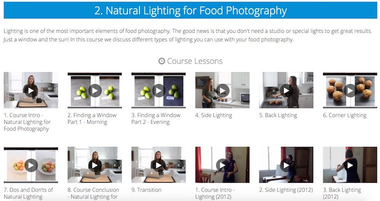 Food Photography Course on Food Blogger Pro