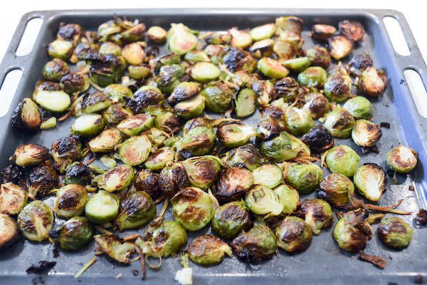 Roasted Brussels sprouts with ginger