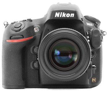 The Nikon D800 DSLR.