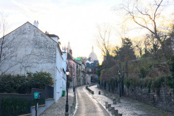 Morning light on rue de l'Abreuvoir in Montmartre
