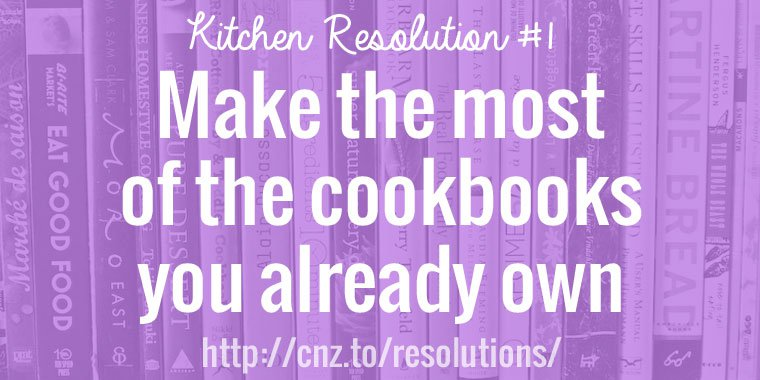 Make the most of the cookbooks you already own