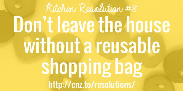 Always have a reusable shopping bag on hand