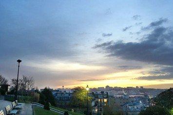 Dawn in the Sacré-Coeur gardens