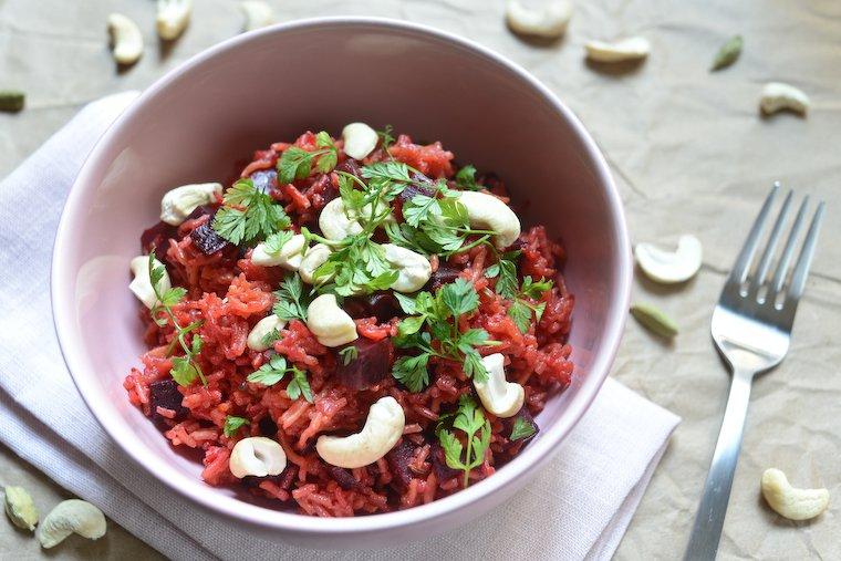 Easy Spiced Beet Pilau