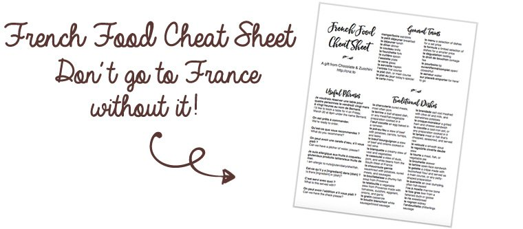 French Food Cheat Sheet