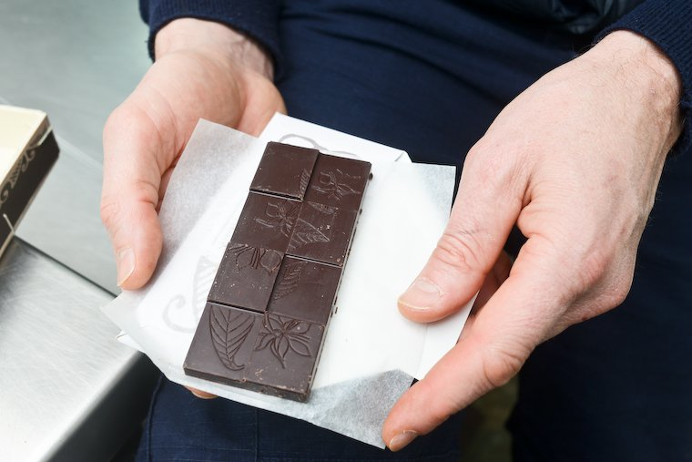 Rrraw chocolate bar.