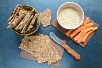 Raw Buckwheat Crackers