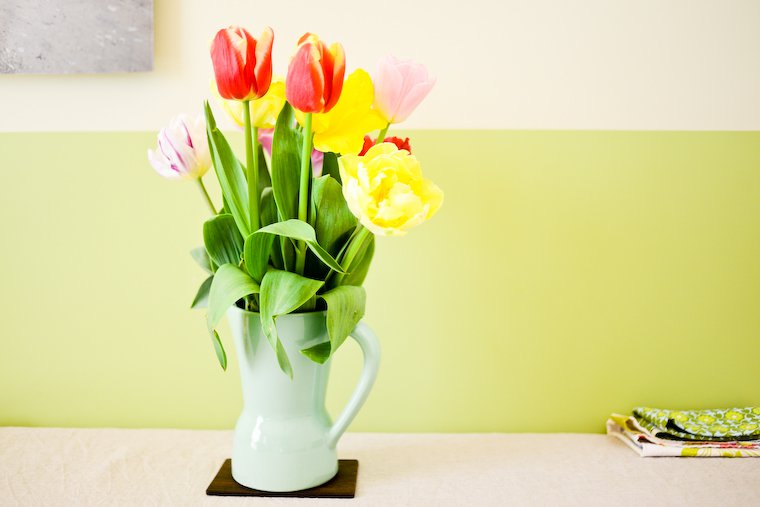Happiness is a bunch of tulips
