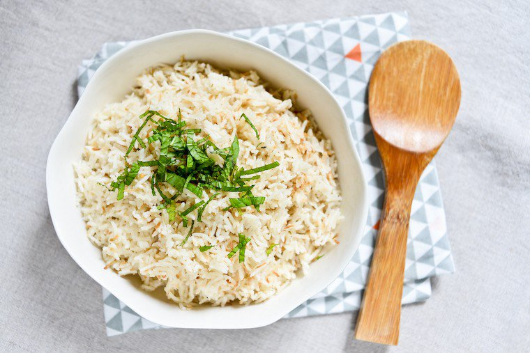 Coconut Spiced Rice in the Rice Cooker Recipe