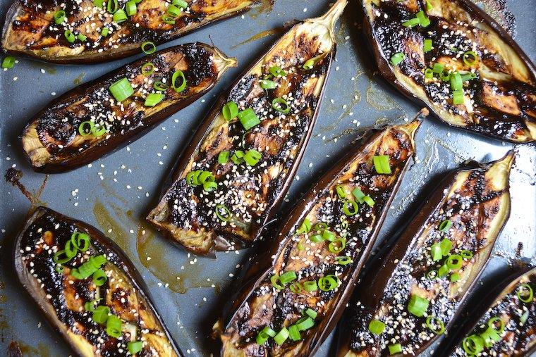 Easy Doenjang Glazed Eggplant