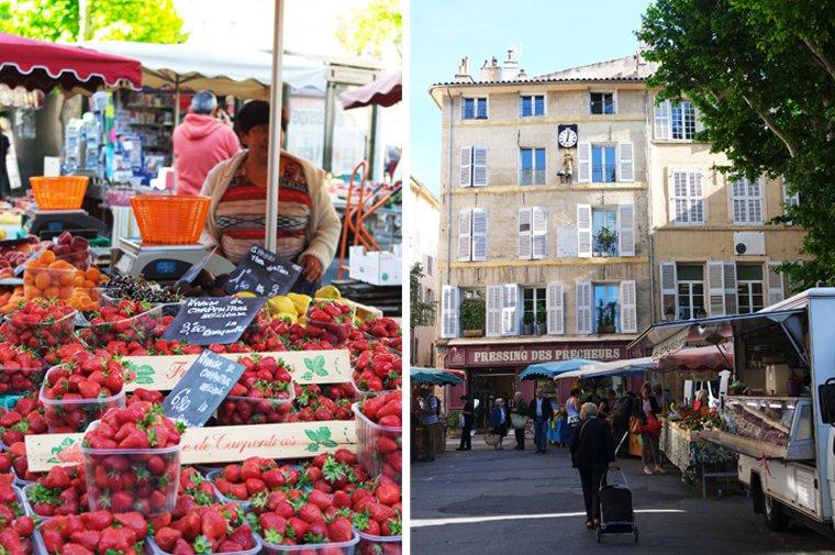 Marche Place des Prêcheurs Aix-en-Provence
