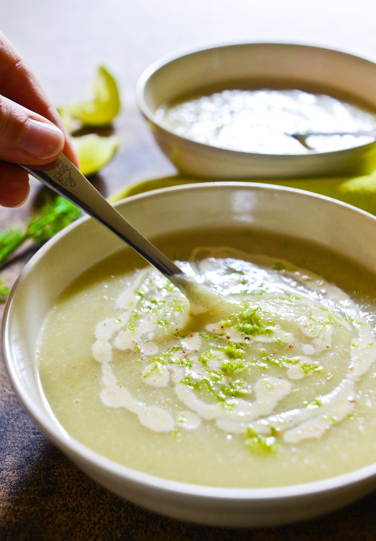 Fennel Soup with Lime and Cashew Cream