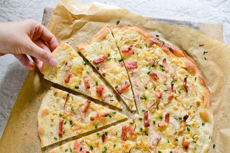 Flammekueche (Alsatian Pizza)