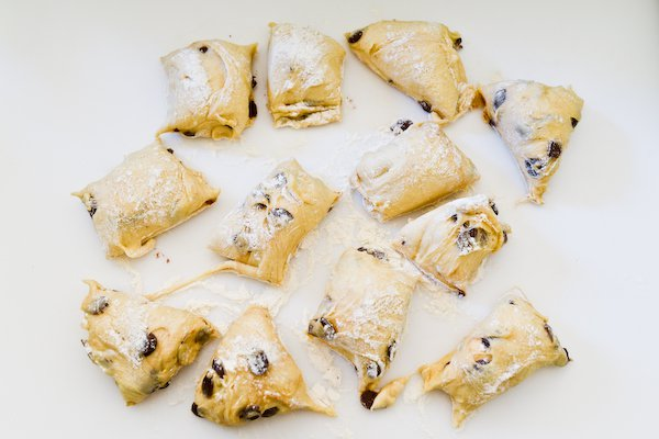 Chocolate Chip Brioches: Dough, divided