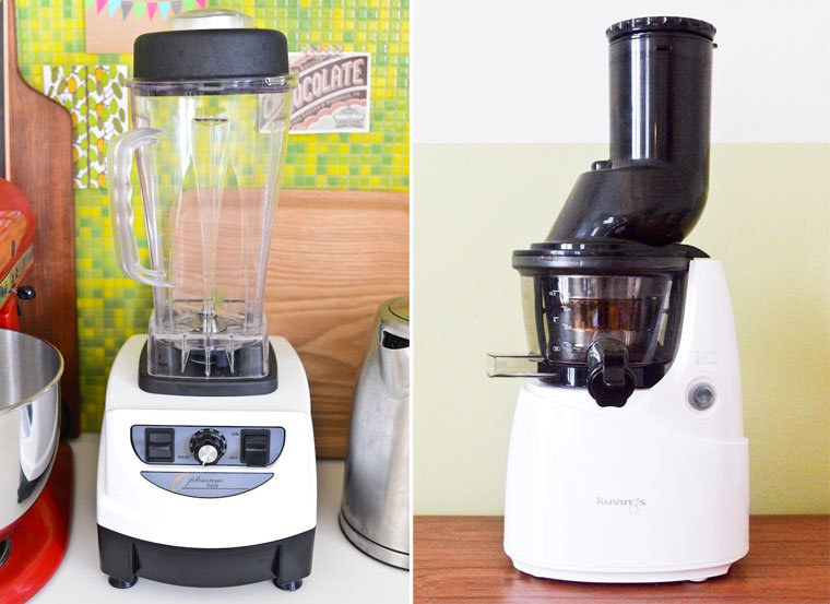 My Optimum blender from Froothie, and my Whole Slow Juicer from Kuvings.