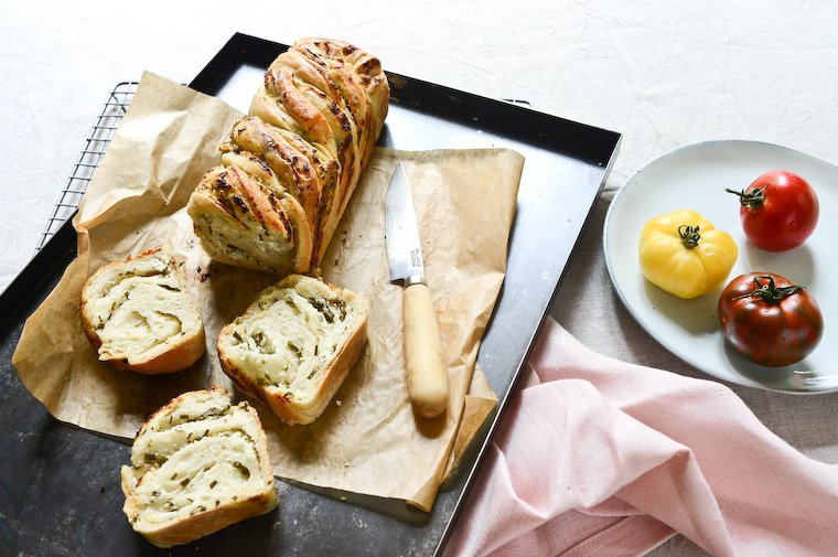 Goat Cheese and Herb Babka