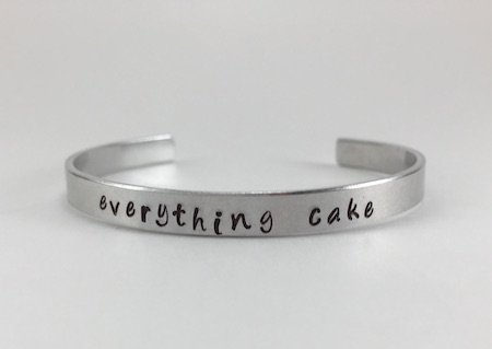 """Everything cake"" Bangle"