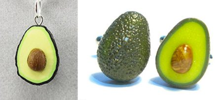 Avocado Necklace and Cufflinks