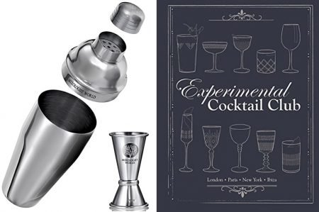 Cocktail Shaker and Experimental Cocktail Club Book